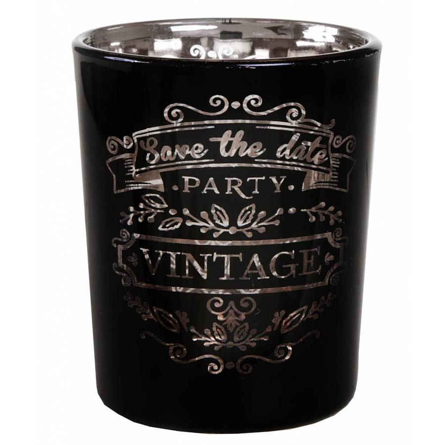 Theelichthouder Vintage zwart-1