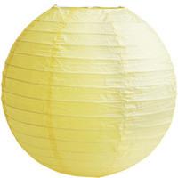 Lampion geel diameter 30 cm (2 stuks)