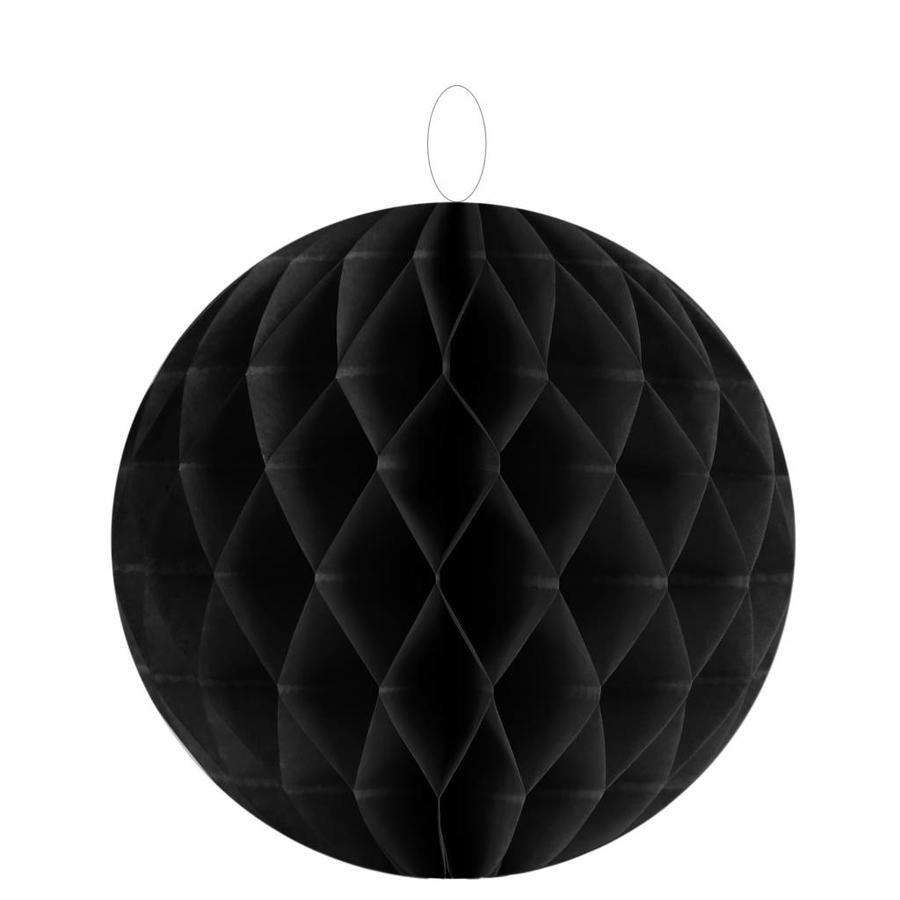 Papieren honeycombs zwart  20 cm (2 stuks)-1