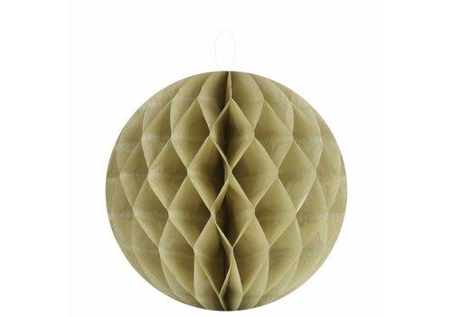 Papieren honeycombs taupe 30 cm (2 stuks)