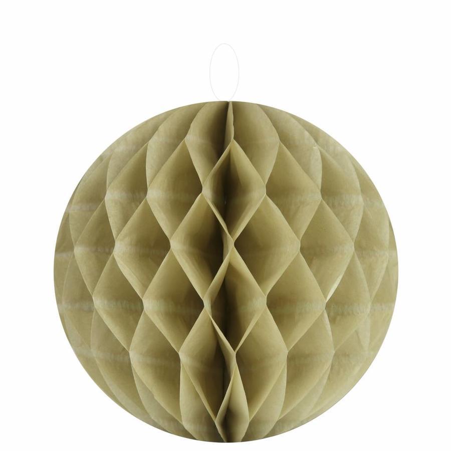 Papieren honeycombs taupe 30 cm (2 stuks)-1