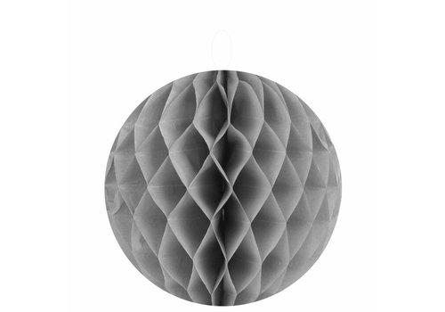 Papieren honeycombs grijs 30 cm (2 stuks)