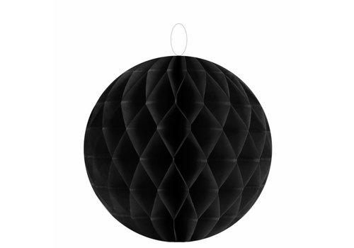 Papieren honeycombs zwart 30 cm (2 stuks)