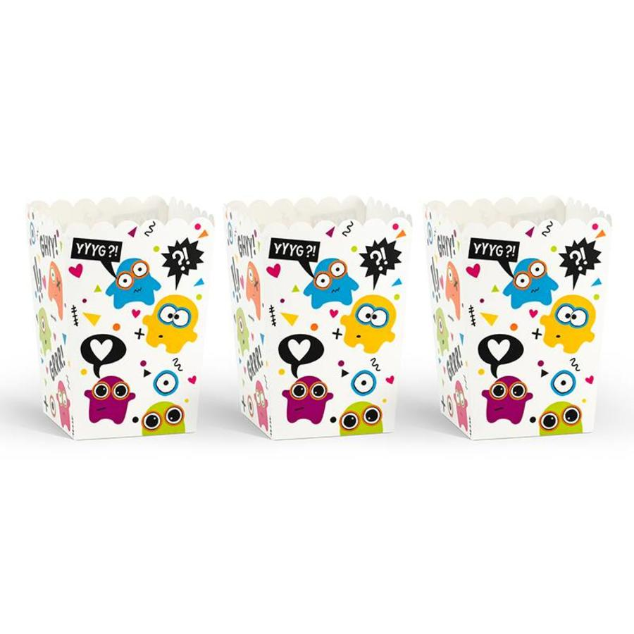 Popcornbox monster (6 stuks)-3