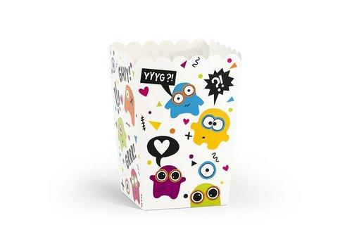 Popcornbox monster (6 stuks)