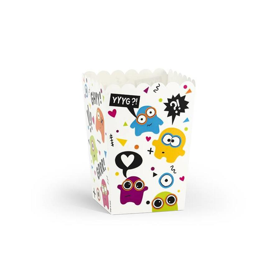 Popcornbox monster (6 stuks)-1
