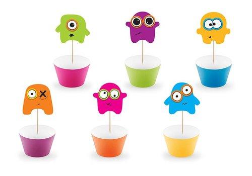 Kit deco cupcake Monsters (6 pcs)