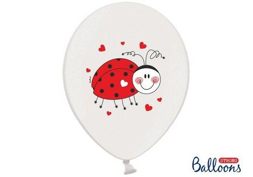 Ballonnen lieveheersbeestje (6 stuks)