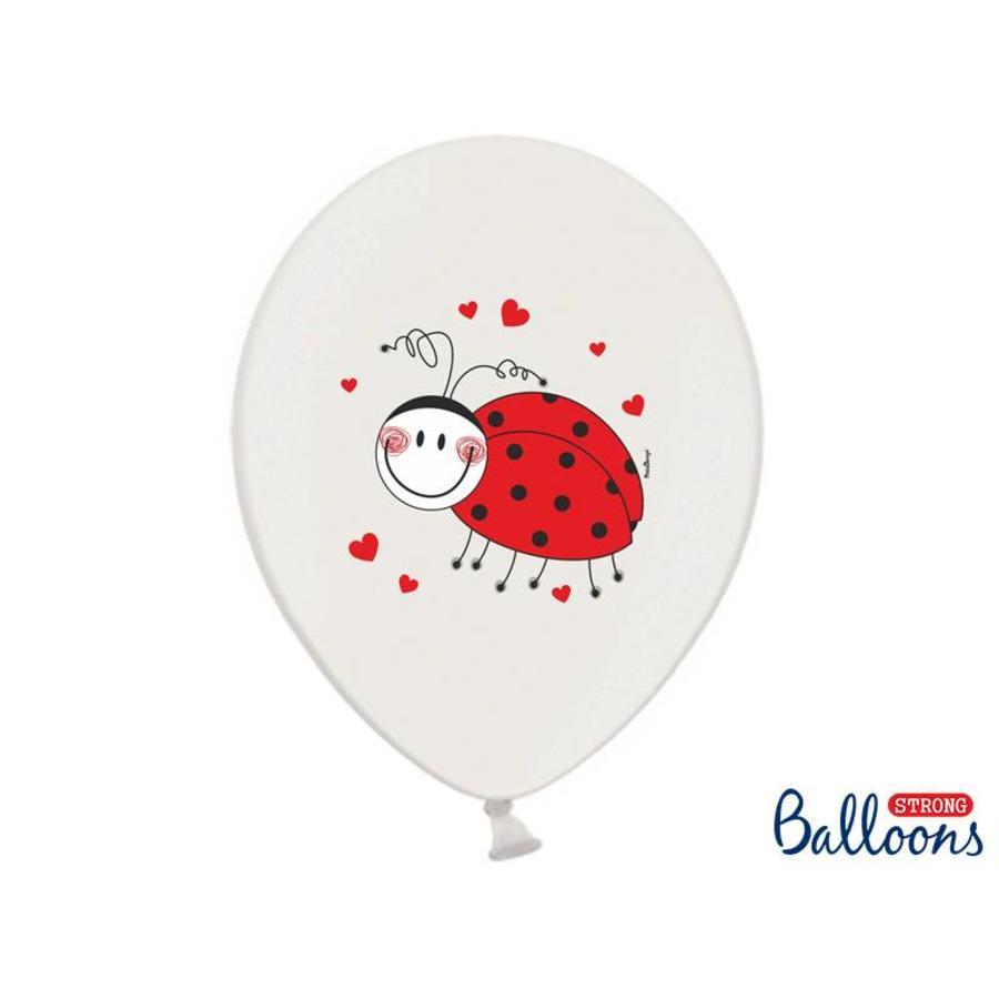 Ballonnen lieveheersbeestje (6 stuks)-2