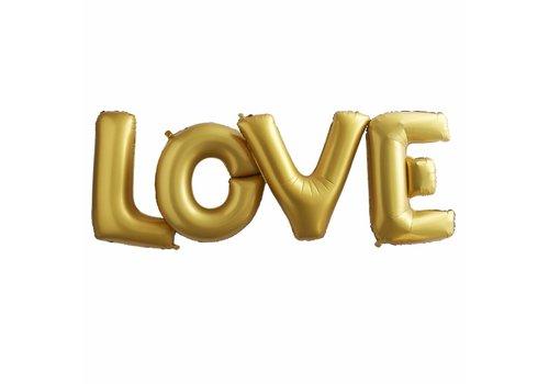 Ballon aluminium Love d'or