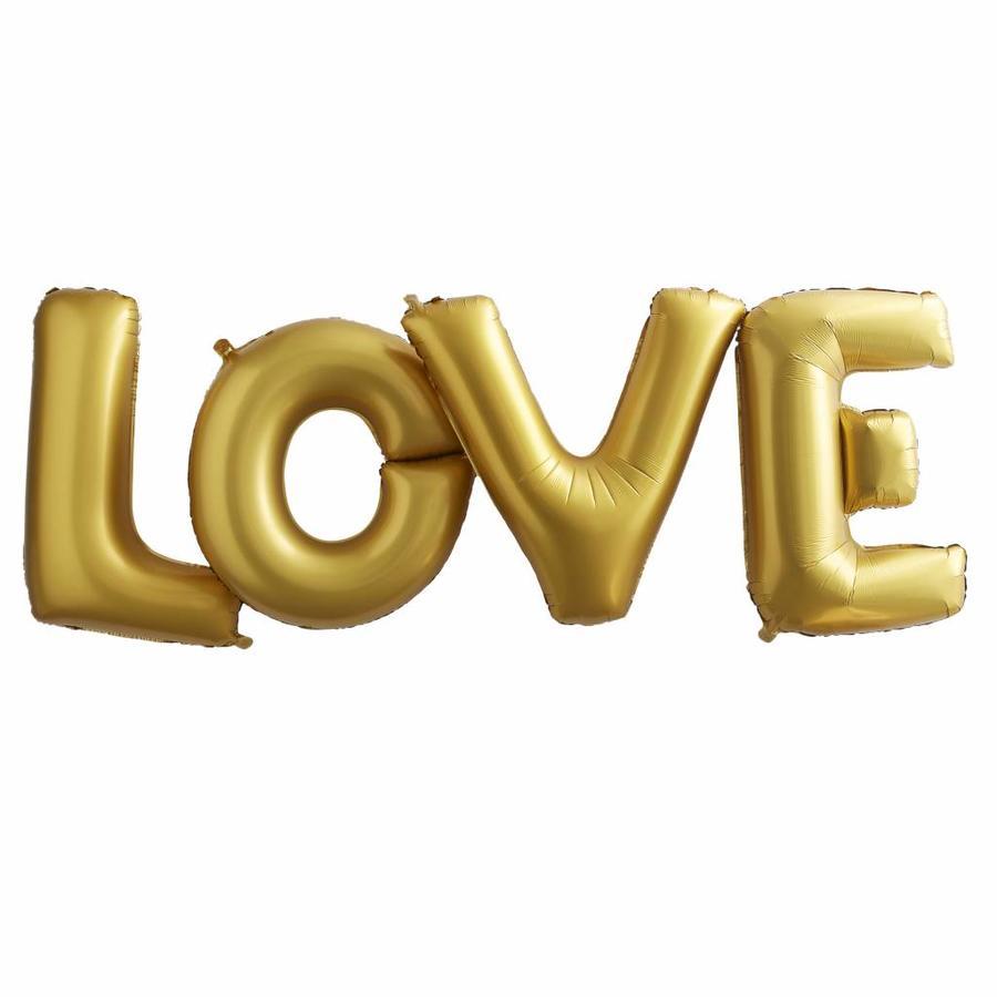 Folieballon goud LOVE-1