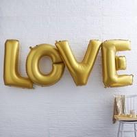 thumb-Folieballon goud LOVE-2