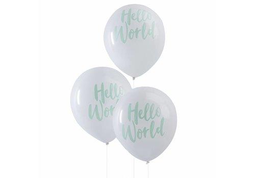 Ballonen Hello World (10 stuks)