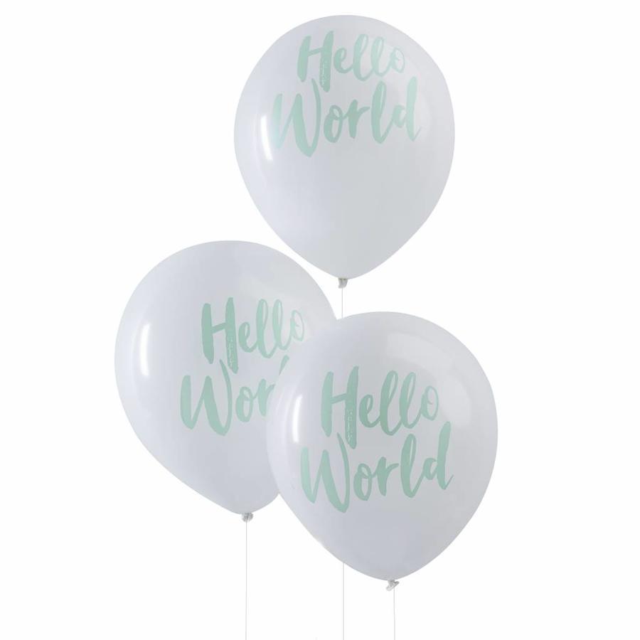 Ballonen Hello World (10 stuks)-1