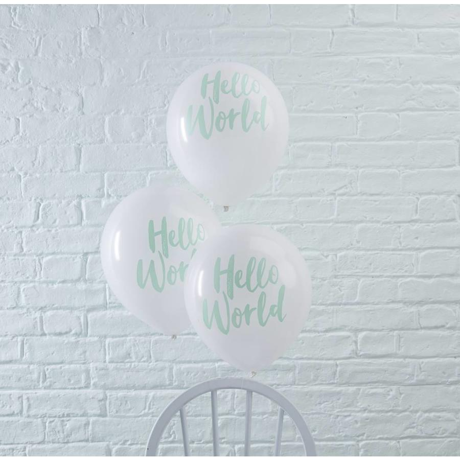 Ballonen Hello World (10 stuks)-2