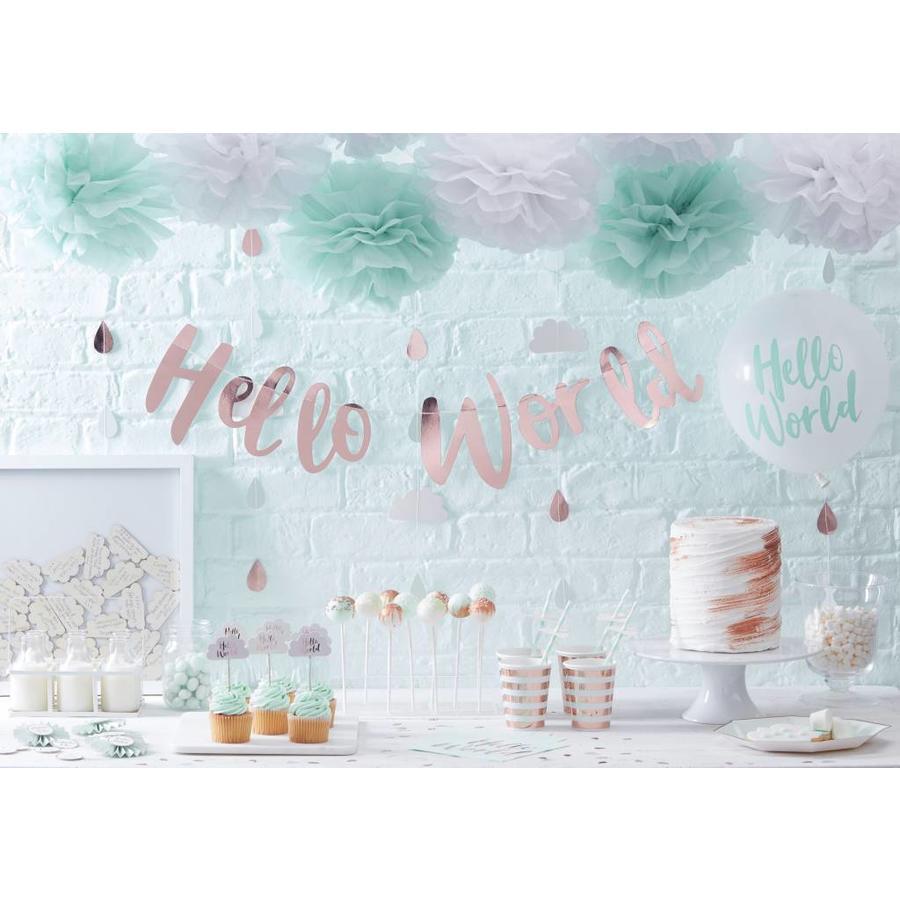 Cupcake toppers Hello World (10 stuks)-3