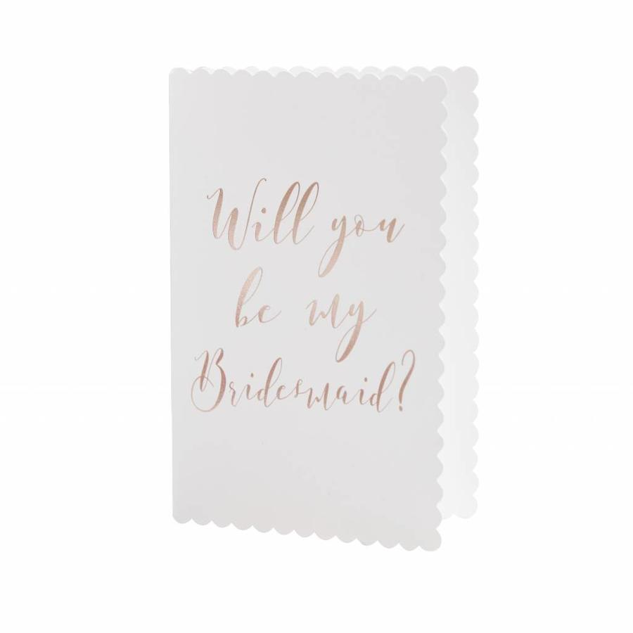 Will you be my bridemaid kaart-1