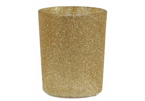 Theelichthouder glamour goud
