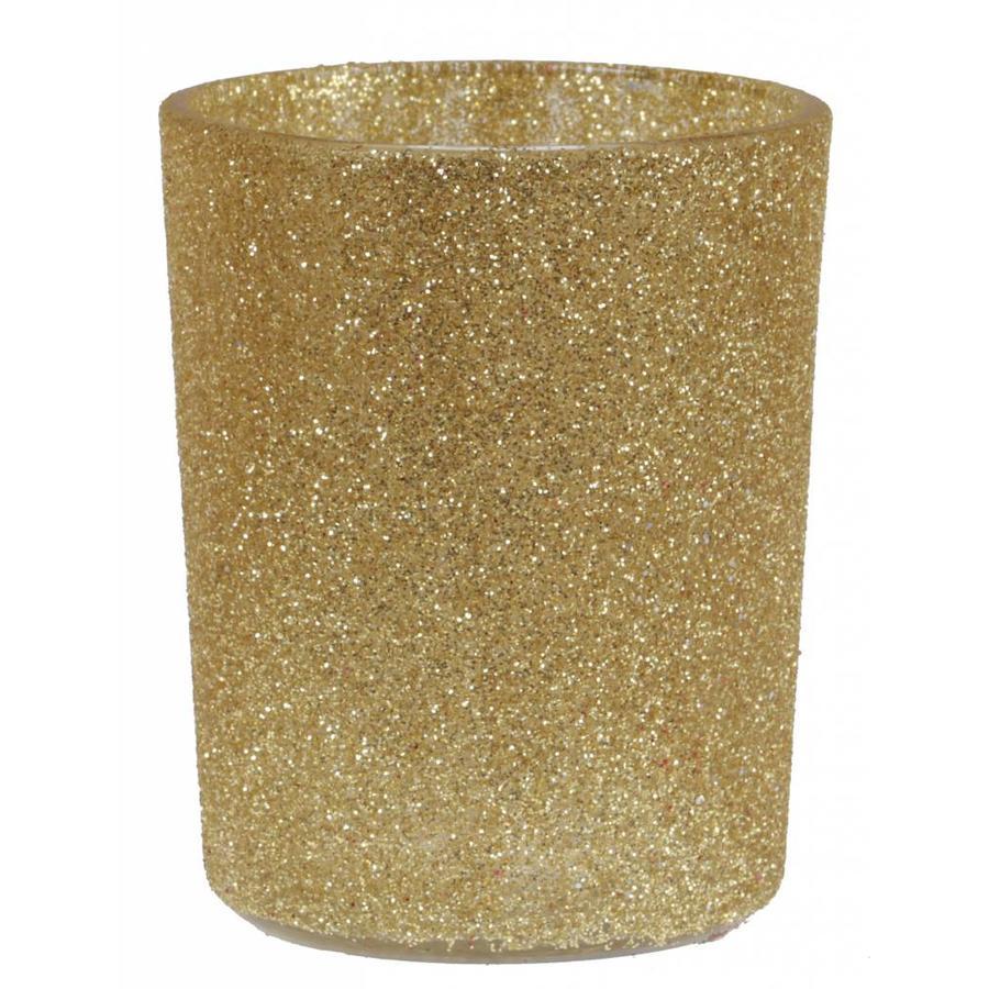 Theelichthouder glamour goud-1