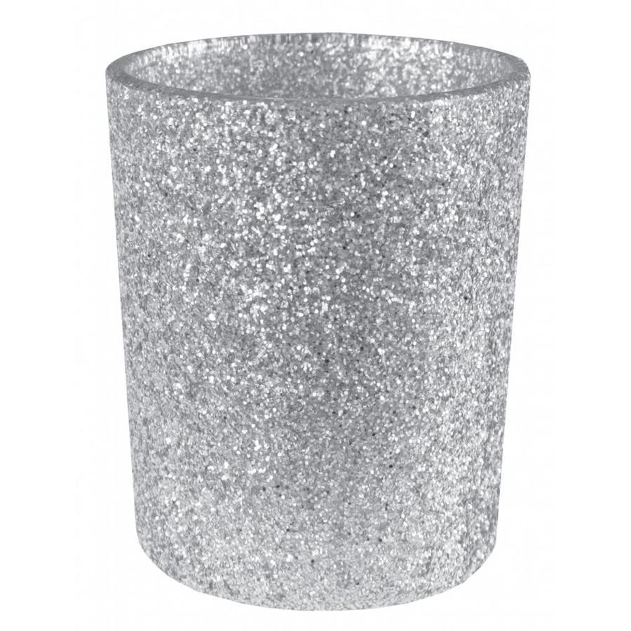 Theelichthouder glamour zilver-1