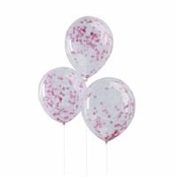 thumb-Confetti ballon roze (5 stuks)-1
