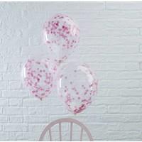 thumb-Confetti ballon roze (5 stuks)-2