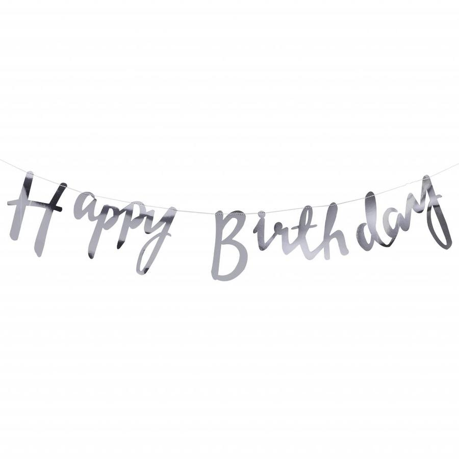 Slinger Happy Birthday zilver-1