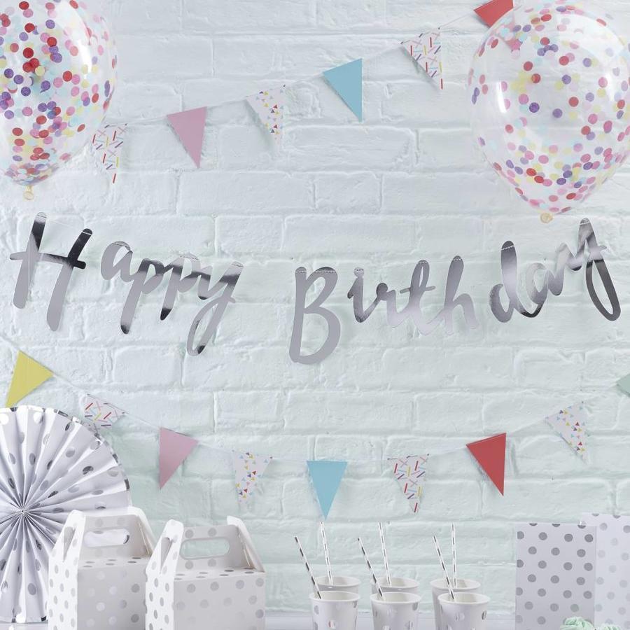 Slinger Happy Birthday zilver-2