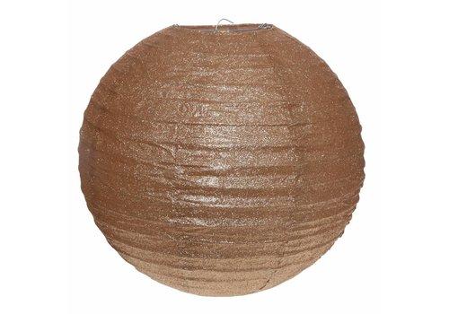 Lampion glitter brons diameter 30 cm