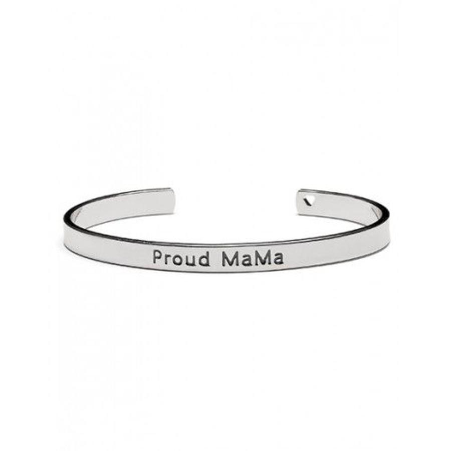 Armband Proud Mama zilver-1