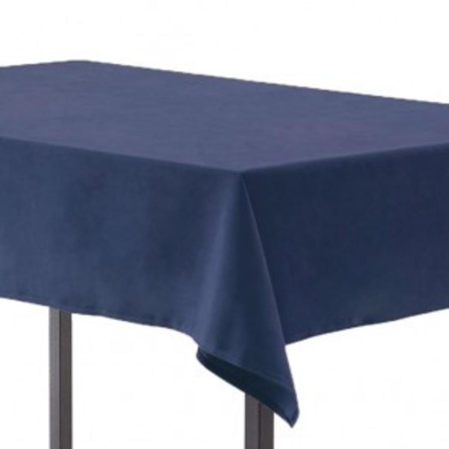 Blauw linnen tafelkleed groot (verhuur)-1