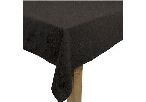 Zwart linnen tafelkleed klein (verhuur)