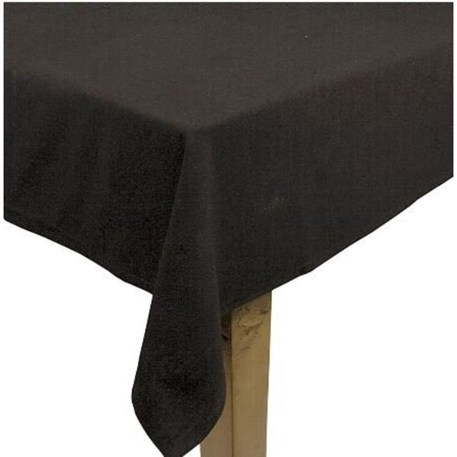 Zwart linnen tafelkleed klein (verhuur)-1