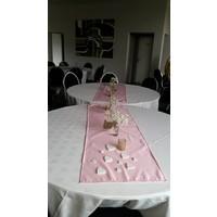 thumb-Roze  linnen tafelloper (verhuur)-2