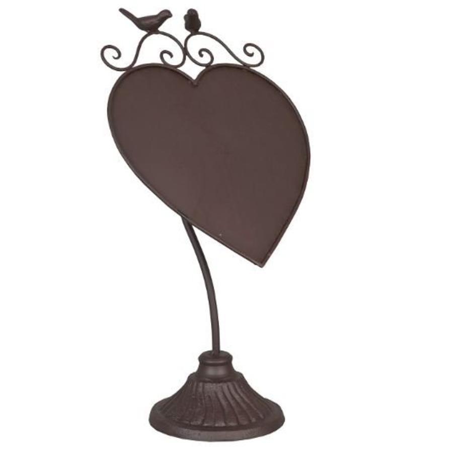 Krijtbord hartje vogel bruin-1