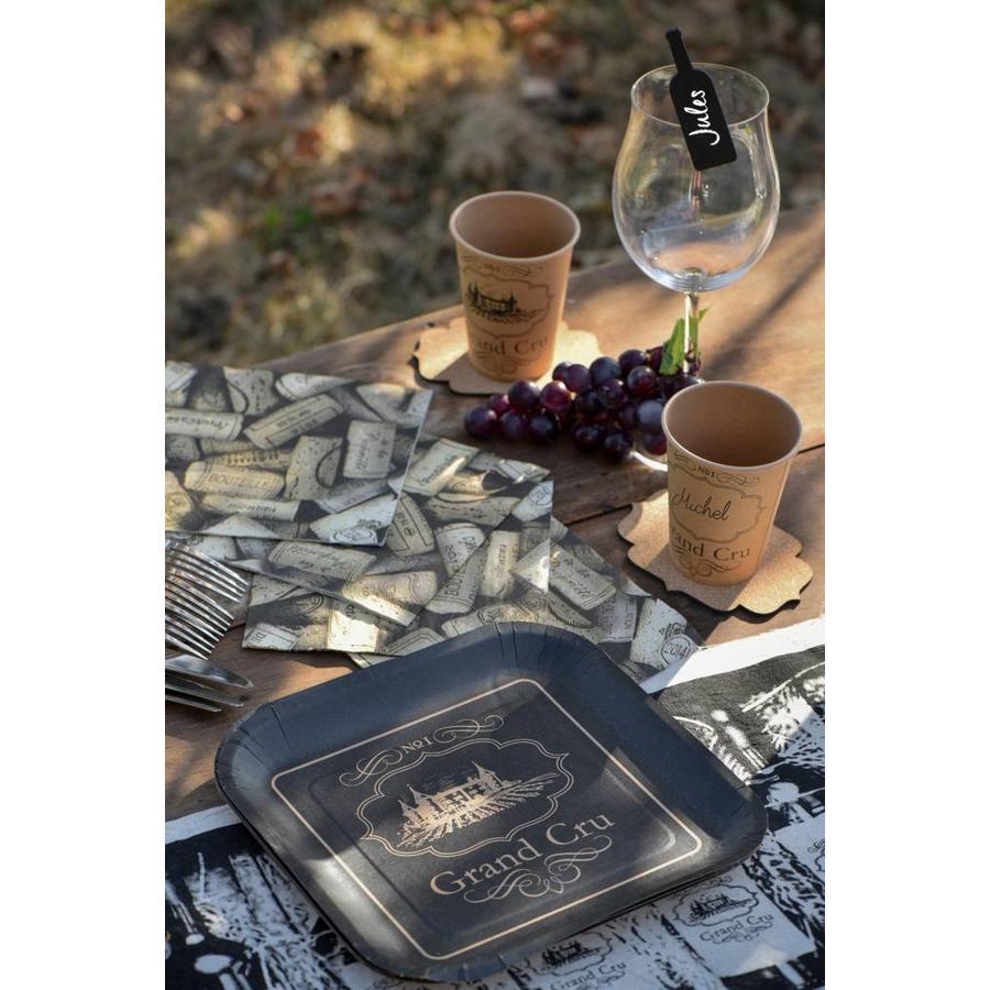 Bordje wijn zwart (10 stuks)-2