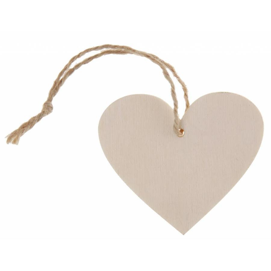 Marque-place coeur naturel (4 pieces)-1