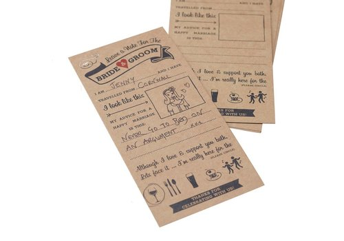 Kaartjes alternatief gastenboek (10 stuks)