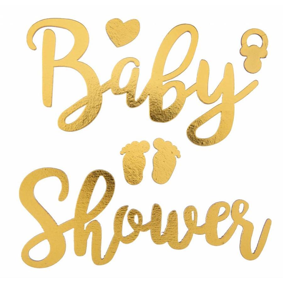 Sticker Babyshower goud-1