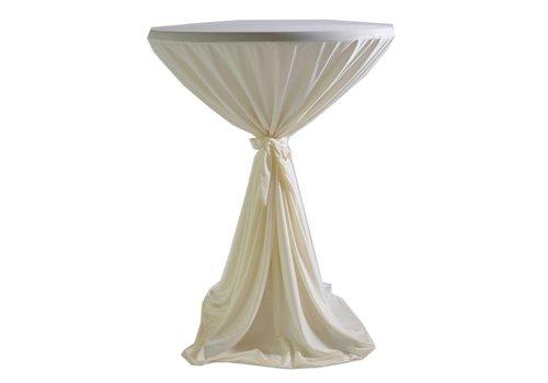 Nappe bleu pour table haute (location)
