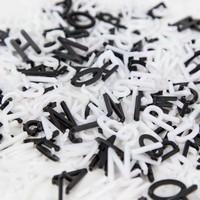 thumb-Letterbord vierkant hout zwart-3
