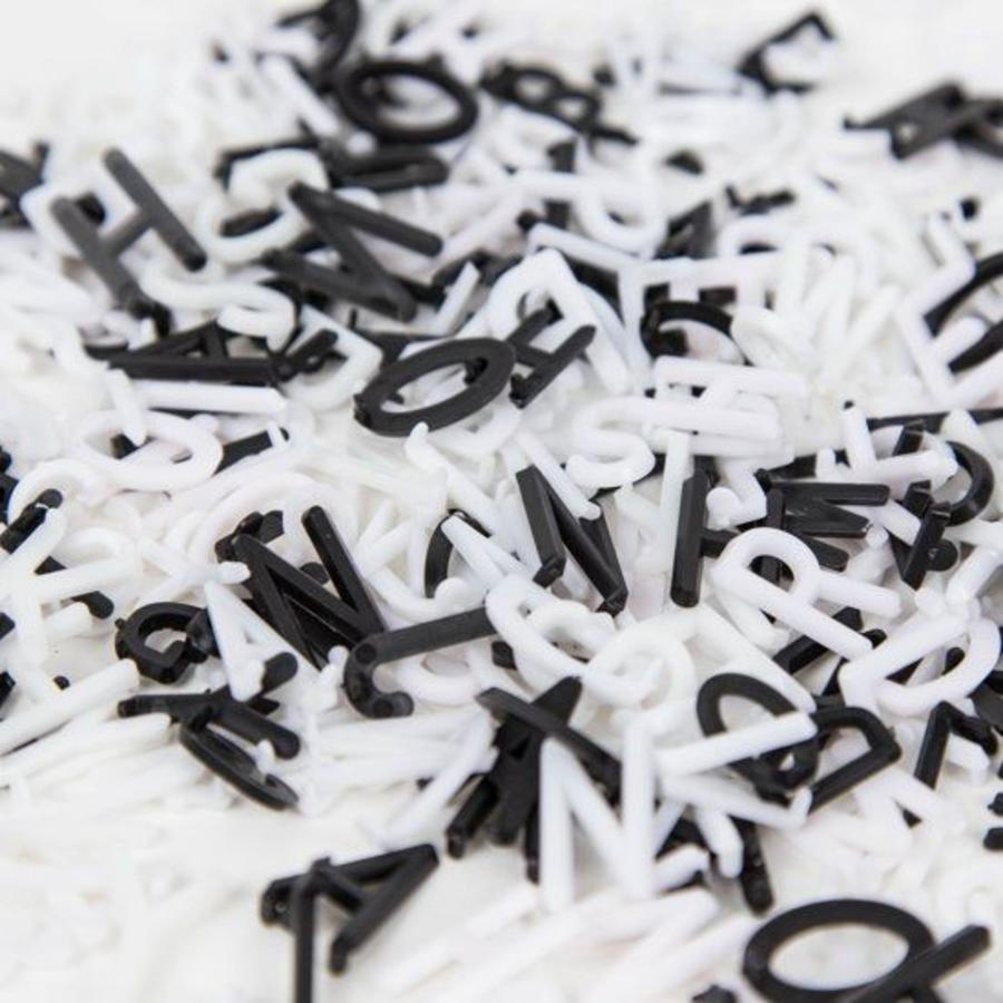 Letterbord vierkant hout zwart-3