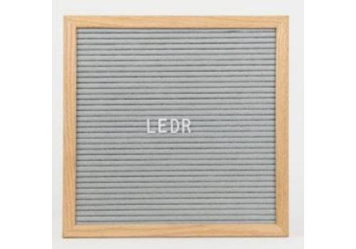 Letterbord vierkant hout grijs
