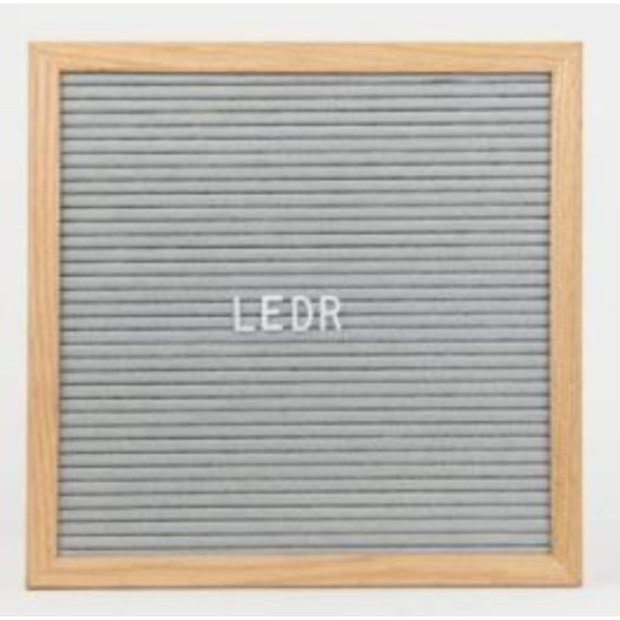 Letterbord vierkant hout grijs-1