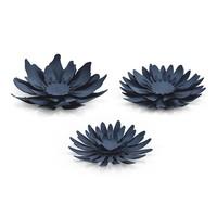 thumb-Papieren bloem blauw (3 stuks)-2