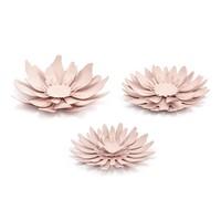 thumb-Papieren bloem roze (3 stuks)-1