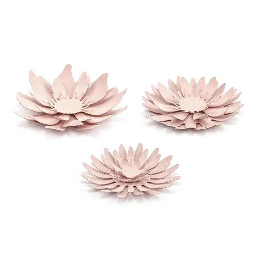Papieren bloem roze (3 stuks)-1