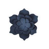 thumb-Papieren lotus bloem blauw (3 stuks)-1