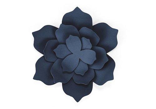 Papieren lotus bloem blauw (3 stuks)