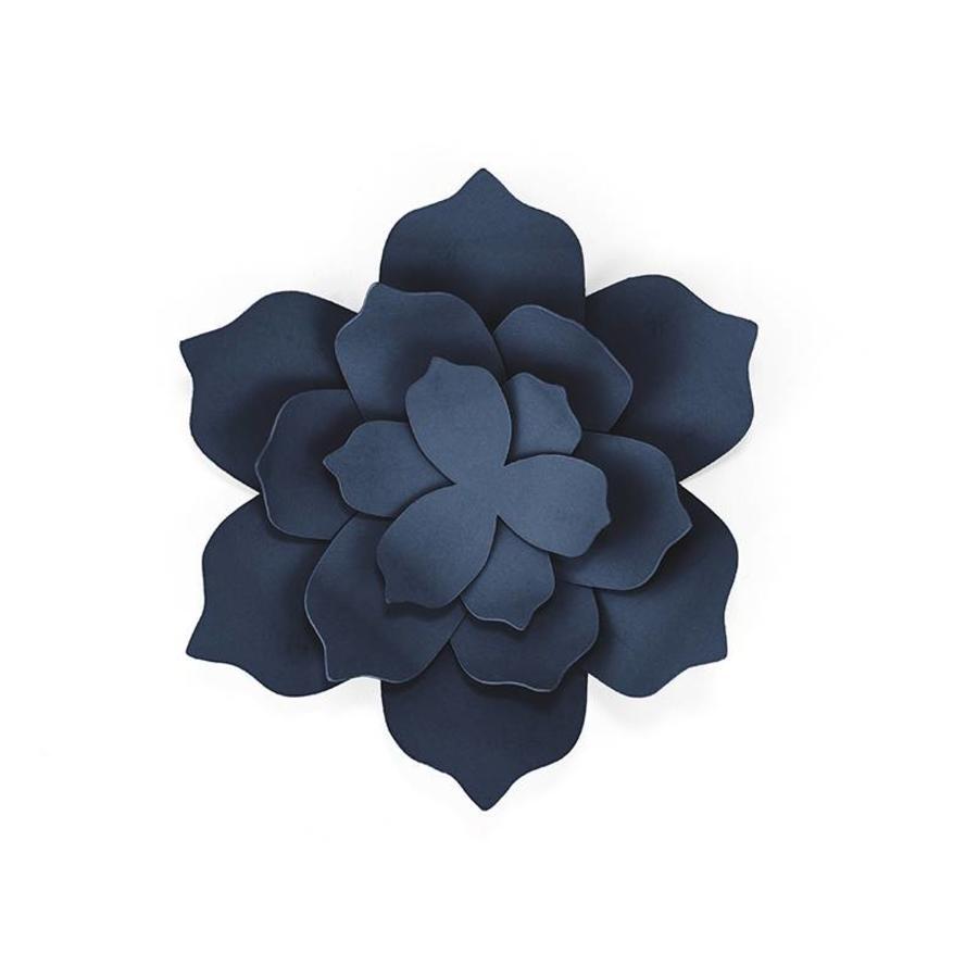 Papieren lotus bloem blauw (3 stuks)-2